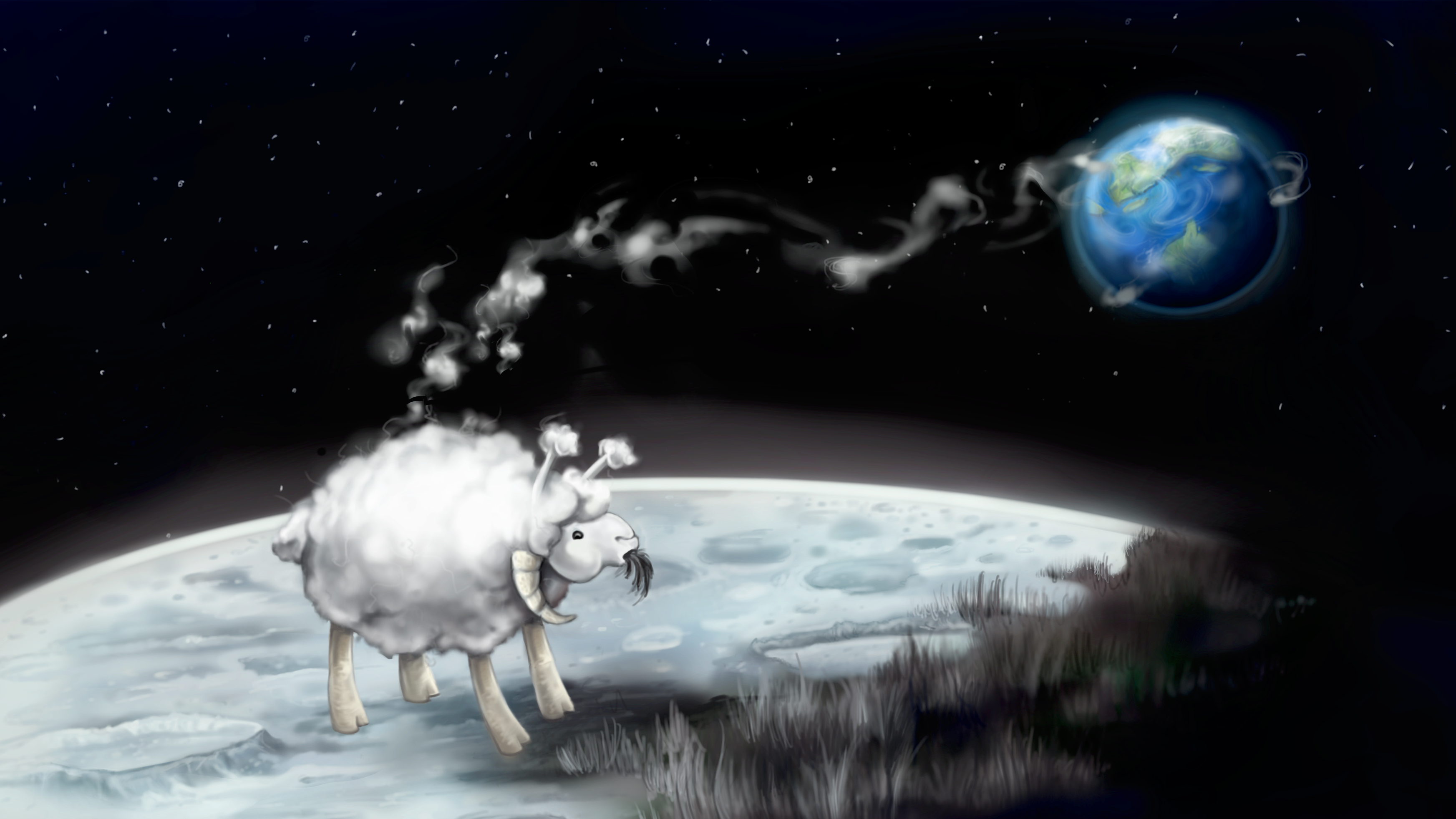 Moon Sheep illustration